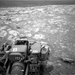 Nasa's Mars rover Curiosity acquired this image using its Left Navigation Camera on Sol 2104, at drive 2166, site number 71