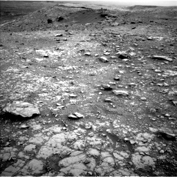 Nasa's Mars rover Curiosity acquired this image using its Left Navigation Camera on Sol 2104, at drive 2328, site number 71