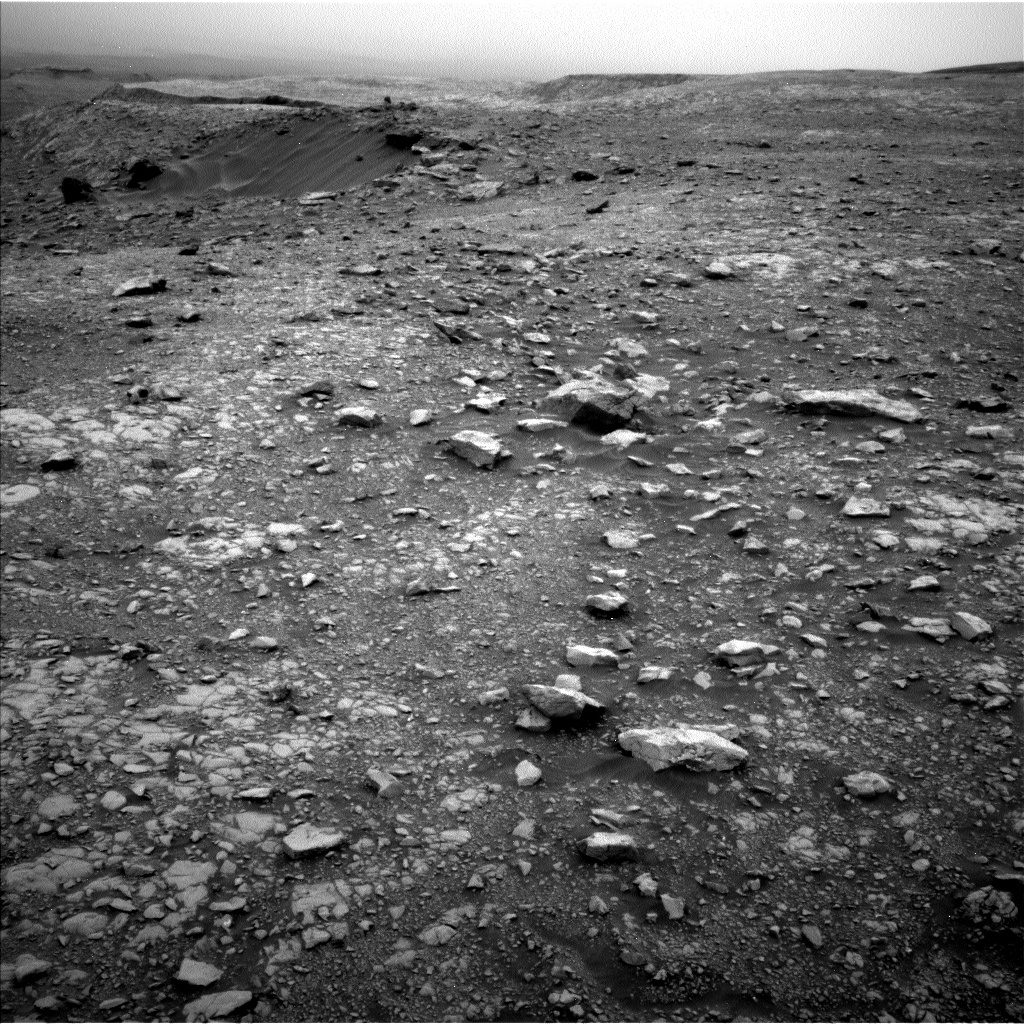 Nasa's Mars rover Curiosity acquired this image using its Left Navigation Camera on Sol 2104, at drive 2350, site number 71
