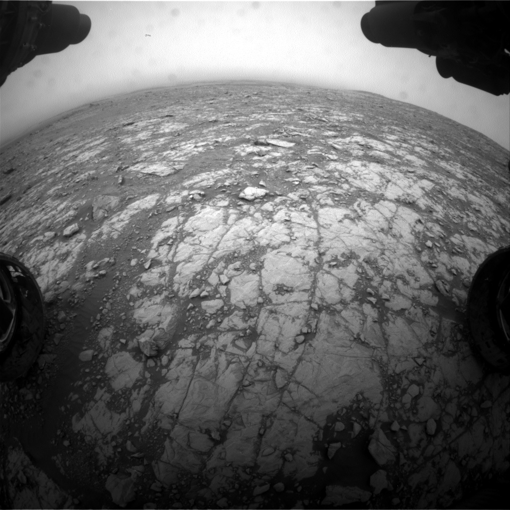 Nasa's Mars rover Curiosity acquired this image using its Front Hazard Avoidance Camera (Front Hazcam) on Sol 2108, at drive 2876, site number 71