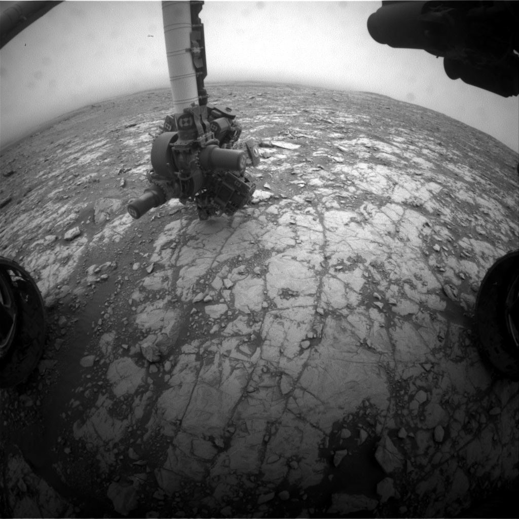 NASA's Mars rover Curiosity acquired this image using its Front Hazard Avoidance Cameras (Front Hazcams) on Sol 2109