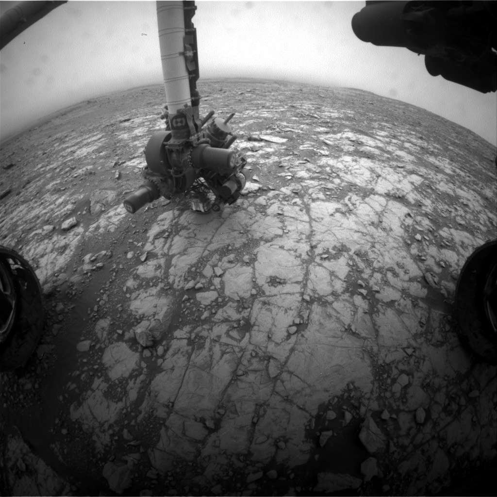Nasa's Mars rover Curiosity acquired this image using its Front Hazard Avoidance Camera (Front Hazcam) on Sol 2109, at drive 2876, site number 71