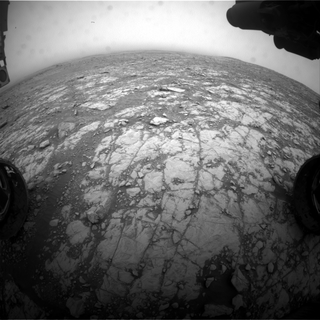 Nasa's Mars rover Curiosity acquired this image using its Front Hazard Avoidance Camera (Front Hazcam) on Sol 2110, at drive 2876, site number 71