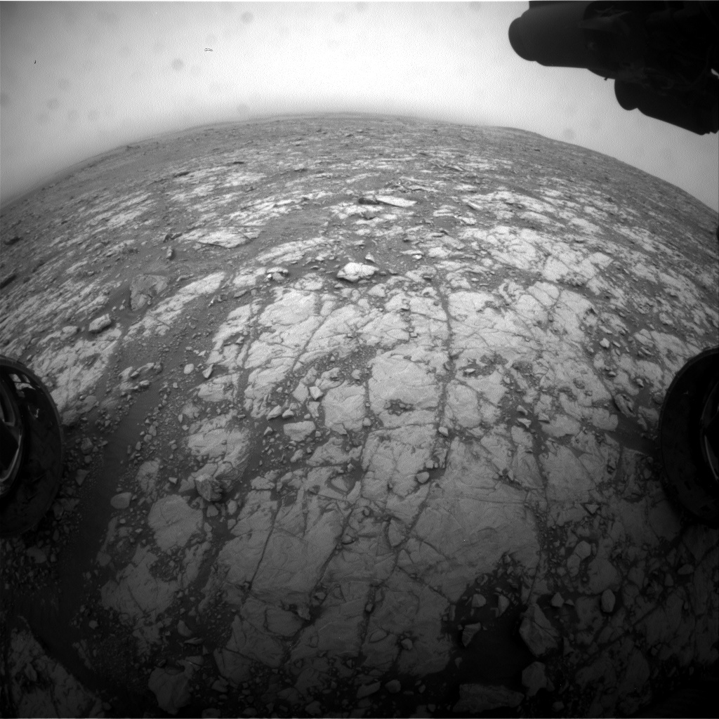 Nasa's Mars rover Curiosity acquired this image using its Front Hazard Avoidance Camera (Front Hazcam) on Sol 2111, at drive 2876, site number 71