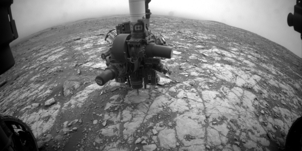 Nasa's Mars rover Curiosity acquired this image using its Front Hazard Avoidance Camera (Front Hazcam) on Sol 2112, at drive 2876, site number 71