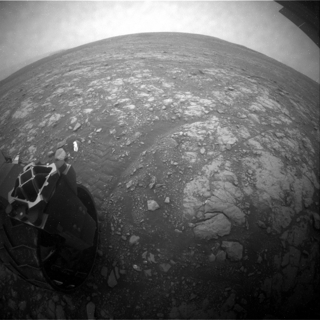 NASA's Mars rover Curiosity acquired this image using its Rear Hazard Avoidance Cameras (Rear Hazcams) on Sol 2112