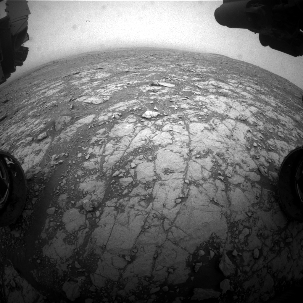 Nasa's Mars rover Curiosity acquired this image using its Front Hazard Avoidance Camera (Front Hazcam) on Sol 2114, at drive 2876, site number 71