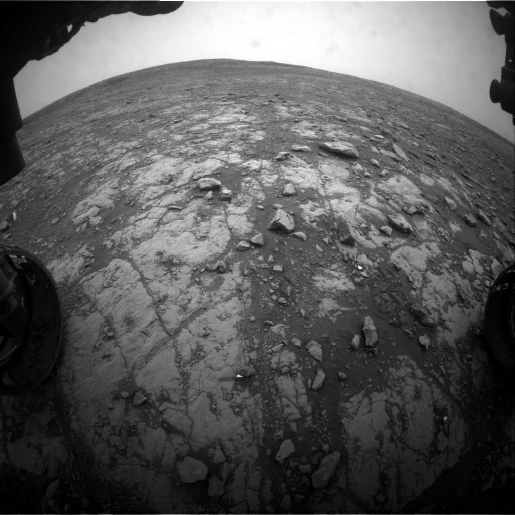 Nasa's Mars rover Curiosity acquired this image using its Front Hazard Avoidance Camera (Front Hazcam) on Sol 2115, at drive 2956, site number 71