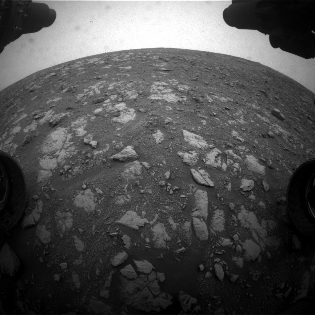 Nasa's Mars rover Curiosity acquired this image using its Front Hazard Avoidance Camera (Front Hazcam) on Sol 2116, at drive 0, site number 72