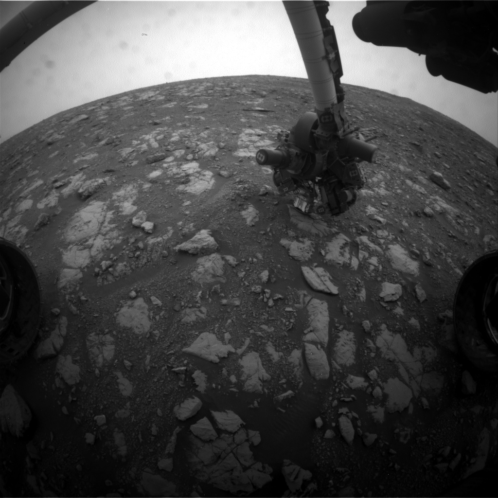 Nasa's Mars rover Curiosity acquired this image using its Front Hazard Avoidance Camera (Front Hazcam) on Sol 2117, at drive 0, site number 72