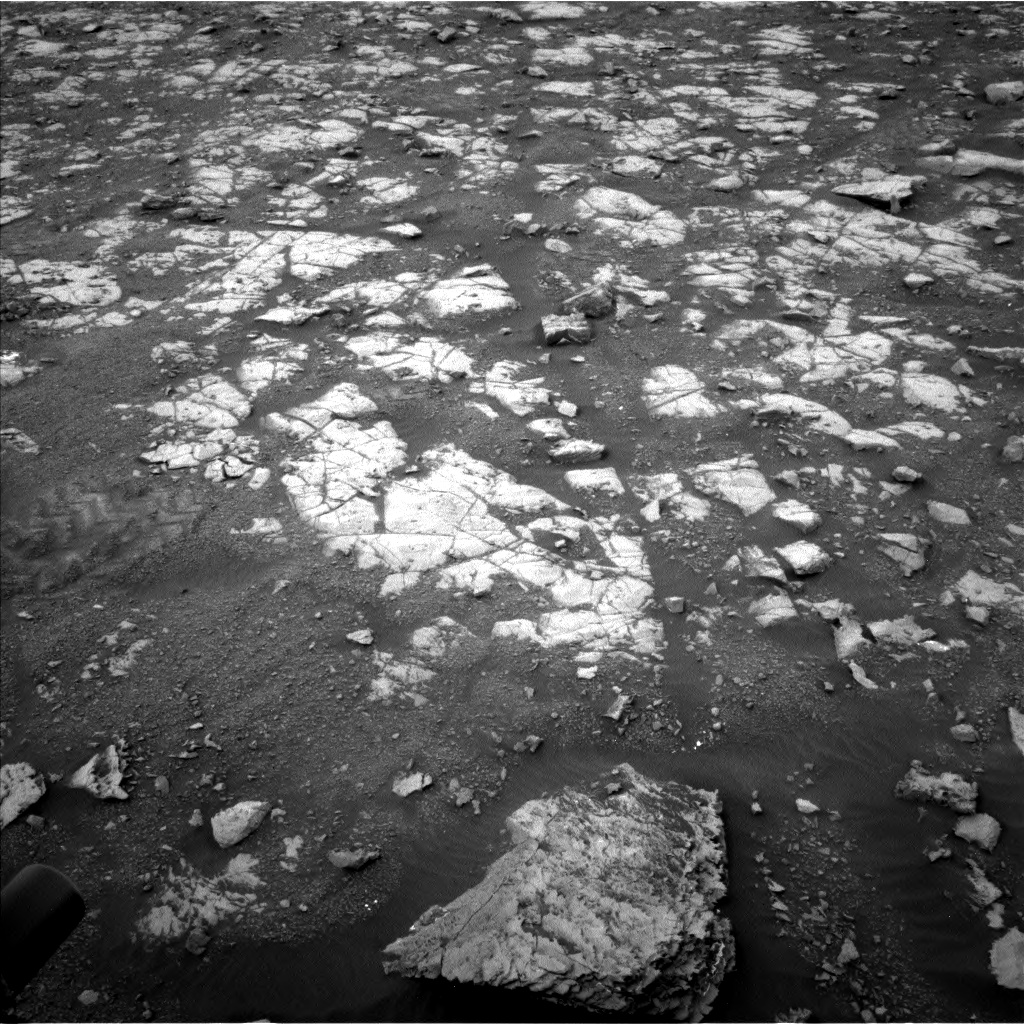 Nasa's Mars rover Curiosity acquired this image using its Left Navigation Camera on Sol 2119, at drive 156, site number 72