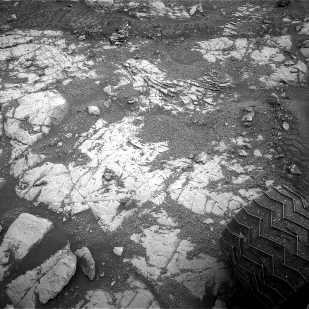 Nasa's Mars rover Curiosity acquired this image using its Left Navigation Camera on Sol 2119, at drive 202, site number 72