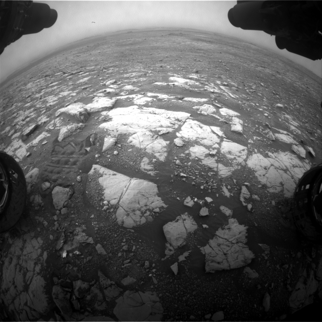 Nasa's Mars rover Curiosity acquired this image using its Front Hazard Avoidance Camera (Front Hazcam) on Sol 2120, at drive 386, site number 72