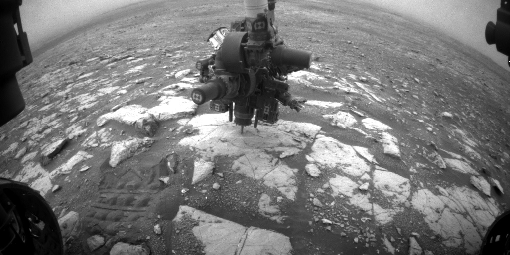 Nasa's Mars rover Curiosity acquired this image using its Front Hazard Avoidance Camera (Front Hazcam) on Sol 2121, at drive 386, site number 72