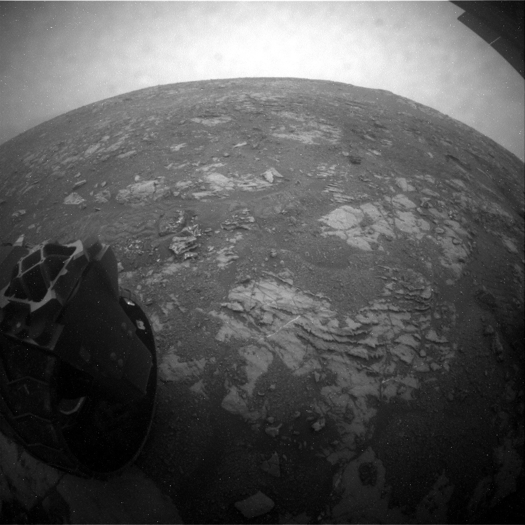 NASA's Mars rover Curiosity acquired this image using its Rear Hazard Avoidance Cameras (Rear Hazcams) on Sol 2121