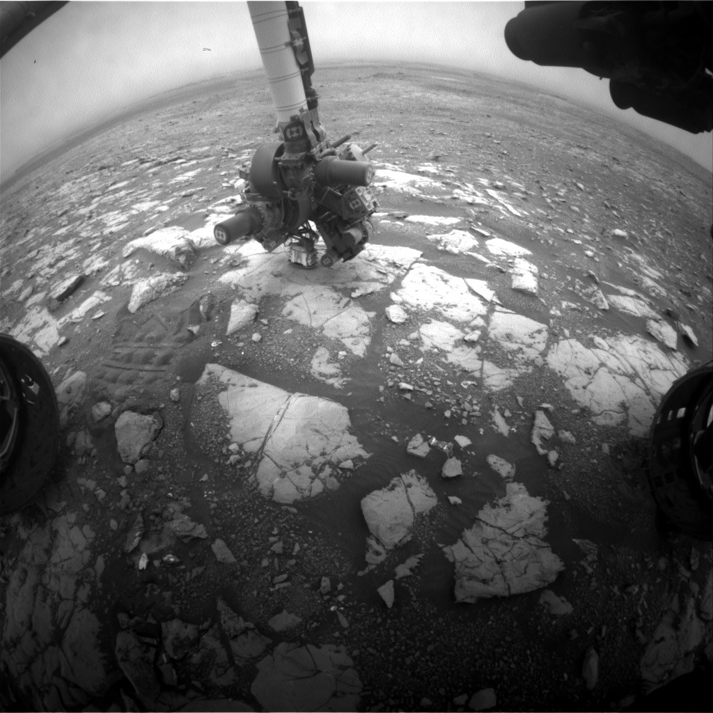 NASA's Mars rover Curiosity acquired this image using its Front Hazard Avoidance Cameras (Front Hazcams) on Sol 2122