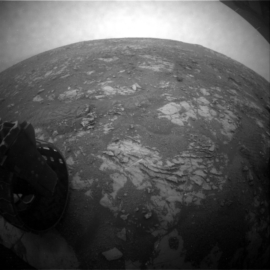 NASA's Mars rover Curiosity acquired this image using its Rear Hazard Avoidance Cameras (Rear Hazcams) on Sol 2122