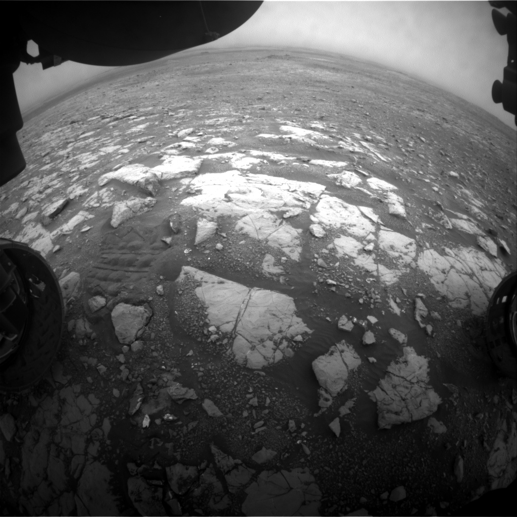 Nasa's Mars rover Curiosity acquired this image using its Front Hazard Avoidance Camera (Front Hazcam) on Sol 2123, at drive 386, site number 72