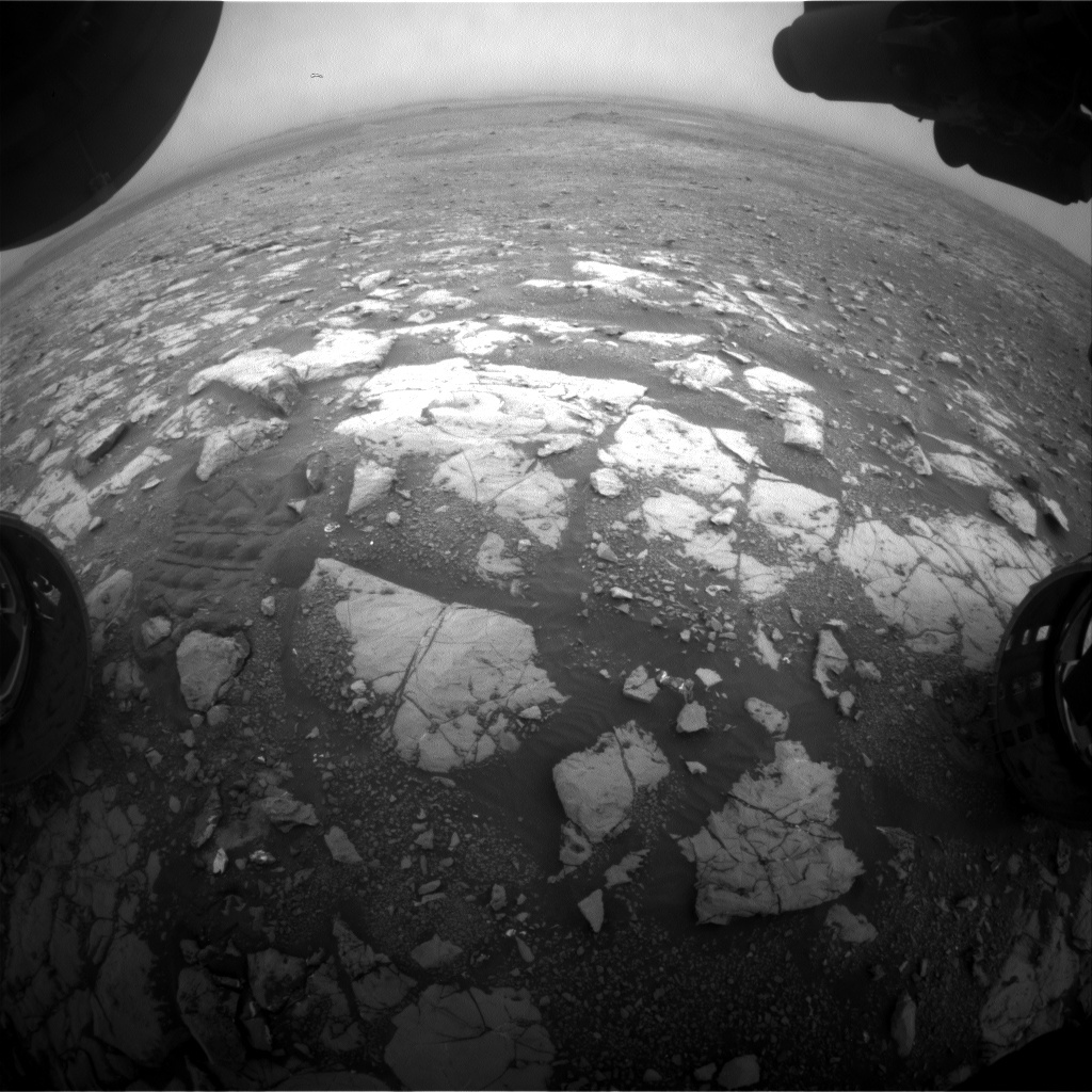 NASA's Mars rover Curiosity acquired this image using its Front Hazard Avoidance Cameras (Front Hazcams) on Sol 2123