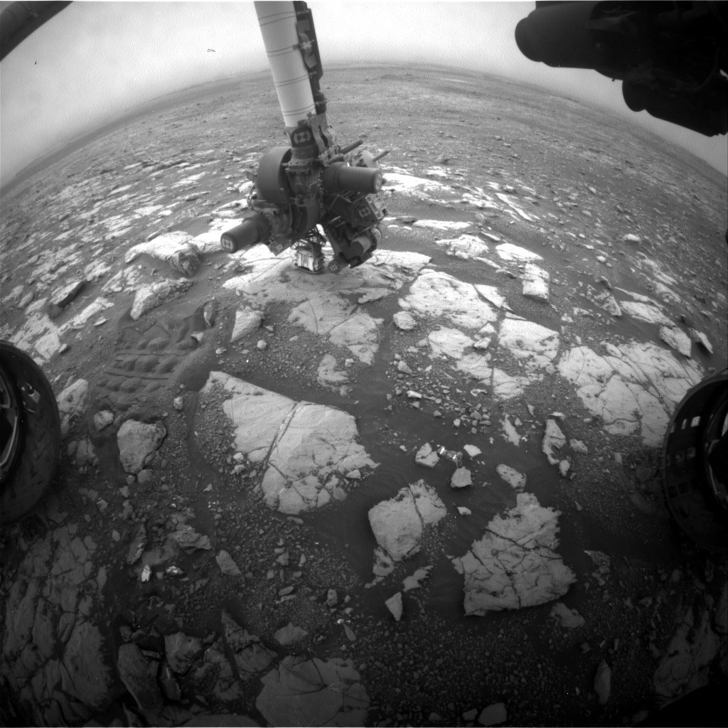 Nasa's Mars rover Curiosity acquired this image using its Front Hazard Avoidance Camera (Front Hazcam) on Sol 2124, at drive 386, site number 72
