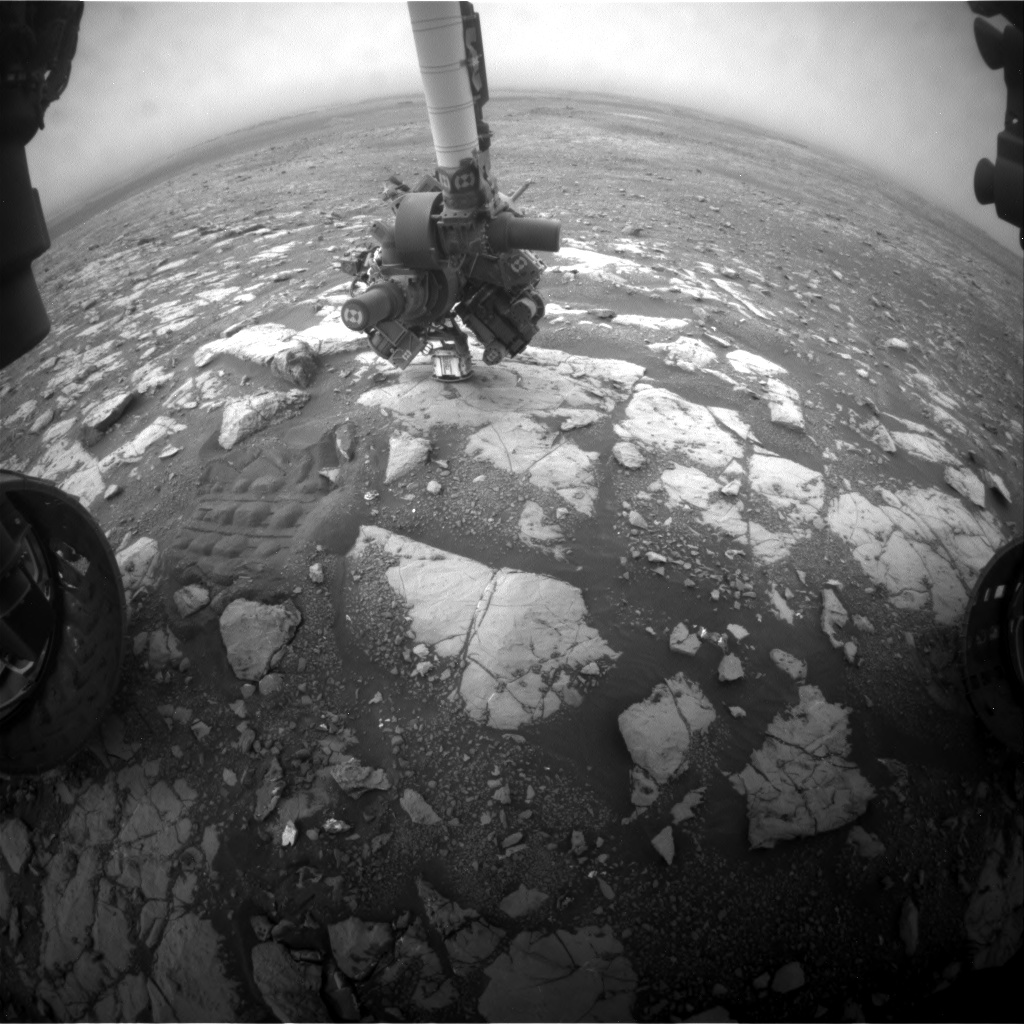 Nasa's Mars rover Curiosity acquired this image using its Front Hazard Avoidance Camera (Front Hazcam) on Sol 2125, at drive 386, site number 72