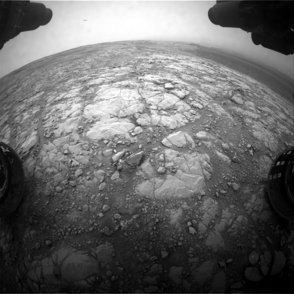 Nasa's Mars rover Curiosity acquired this image using its Front Hazard Avoidance Camera (Front Hazcam) on Sol 2126, at drive 920, site number 72
