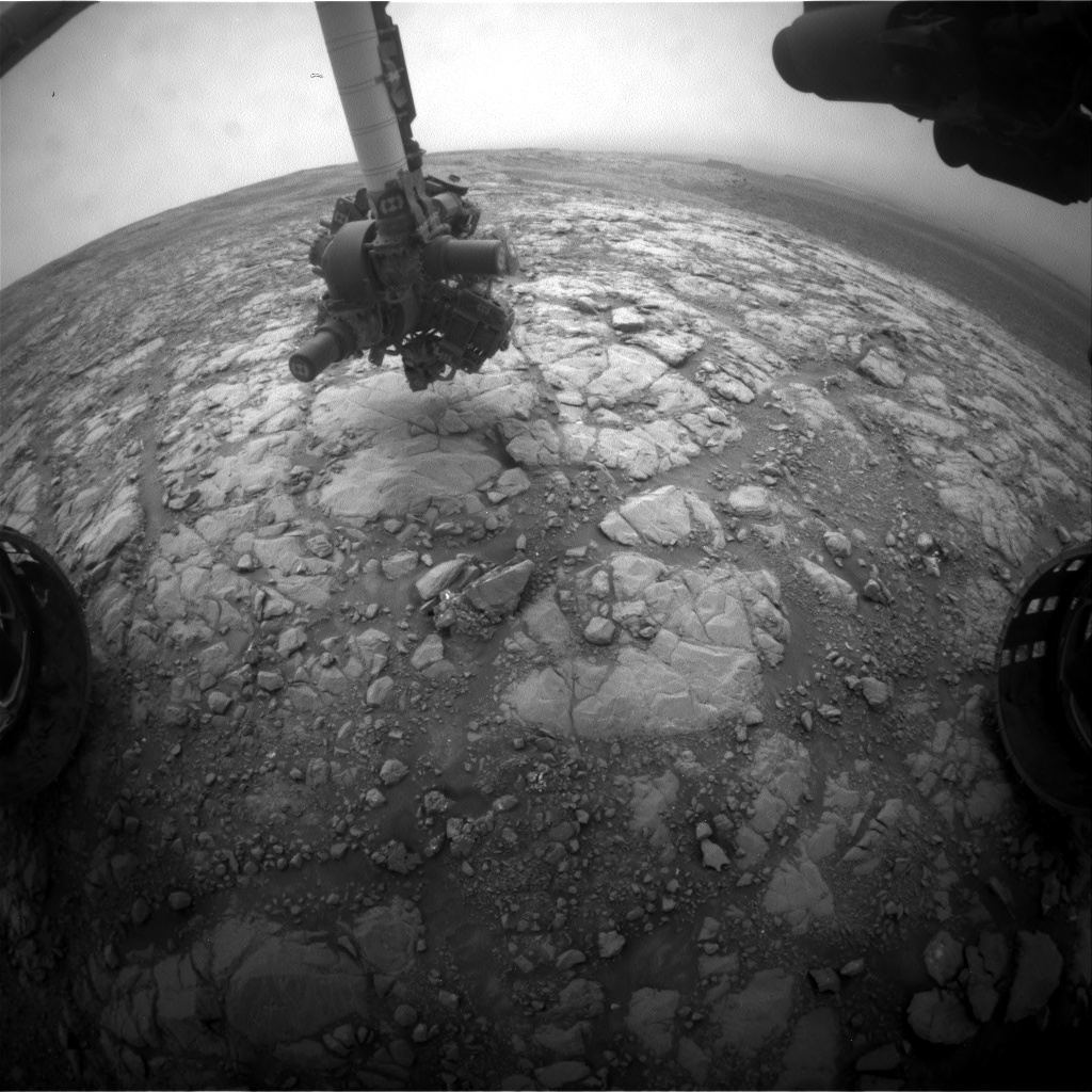 Nasa's Mars rover Curiosity acquired this image using its Front Hazard Avoidance Camera (Front Hazcam) on Sol 2127, at drive 920, site number 72