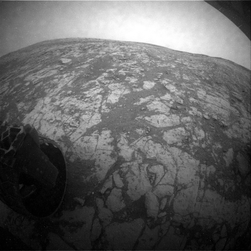 NASA's Mars rover Curiosity acquired this image using its Rear Hazard Avoidance Cameras (Rear Hazcams) on Sol 2129
