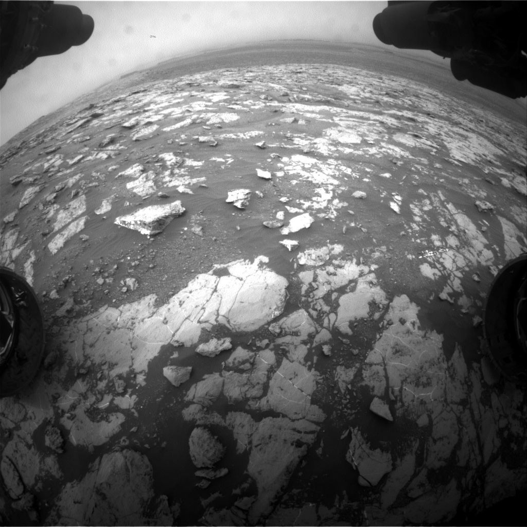 Nasa's Mars rover Curiosity acquired this image using its Front Hazard Avoidance Camera (Front Hazcam) on Sol 2130, at drive 1286, site number 72