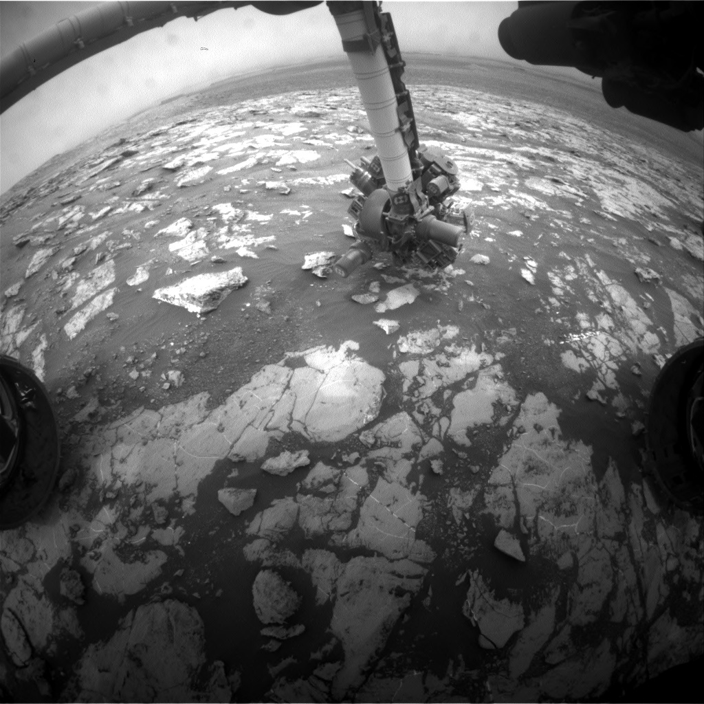 Nasa's Mars rover Curiosity acquired this image using its Front Hazard Avoidance Camera (Front Hazcam) on Sol 2132, at drive 1286, site number 72