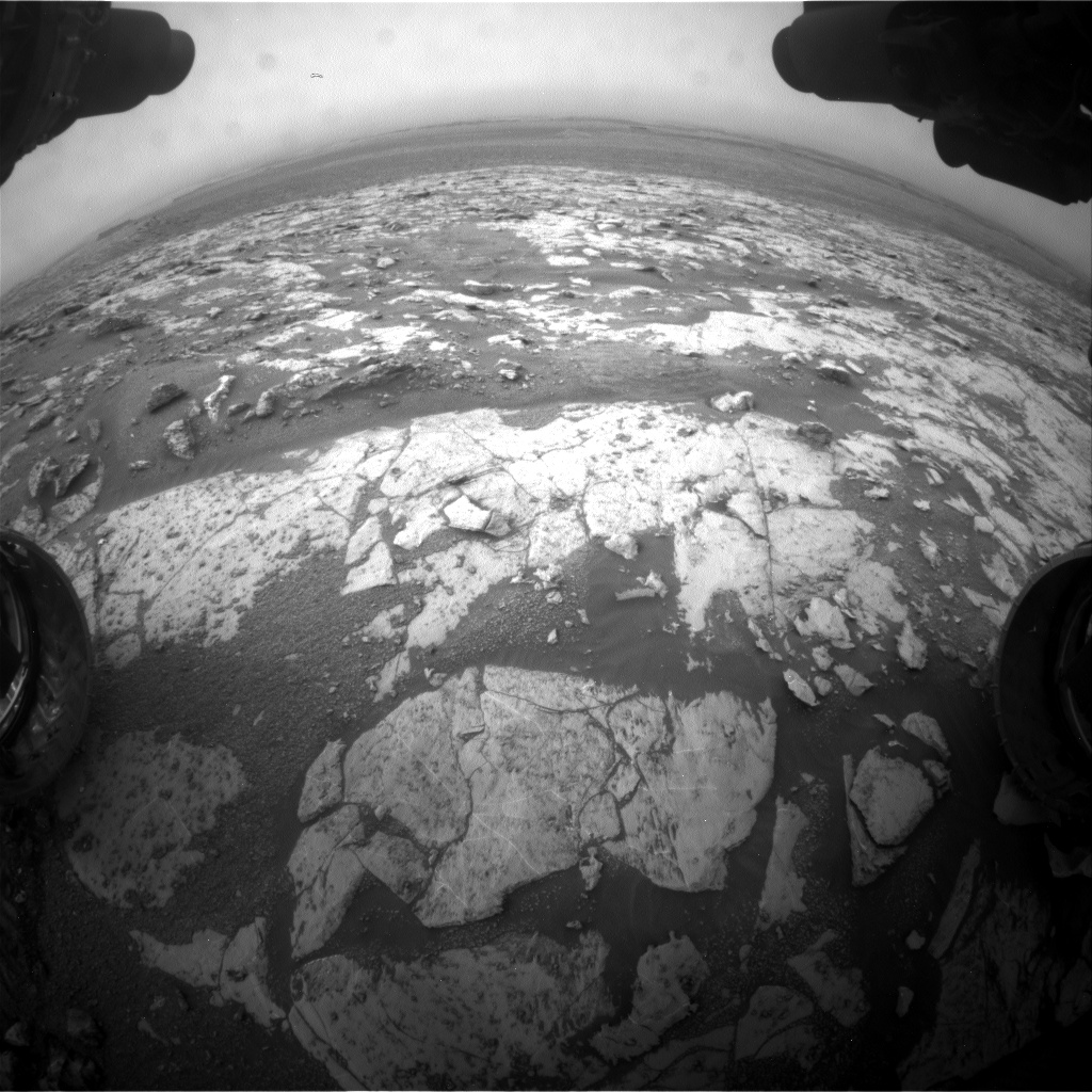 Nasa's Mars rover Curiosity acquired this image using its Front Hazard Avoidance Camera (Front Hazcam) on Sol 2132, at drive 1316, site number 72