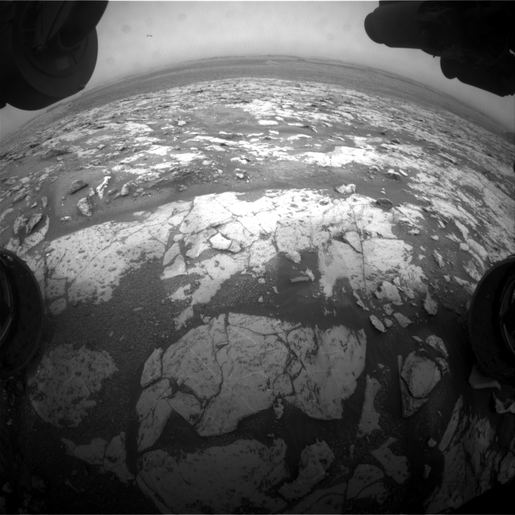 Nasa's Mars rover Curiosity acquired this image using its Front Hazard Avoidance Camera (Front Hazcam) on Sol 2133, at drive 1316, site number 72