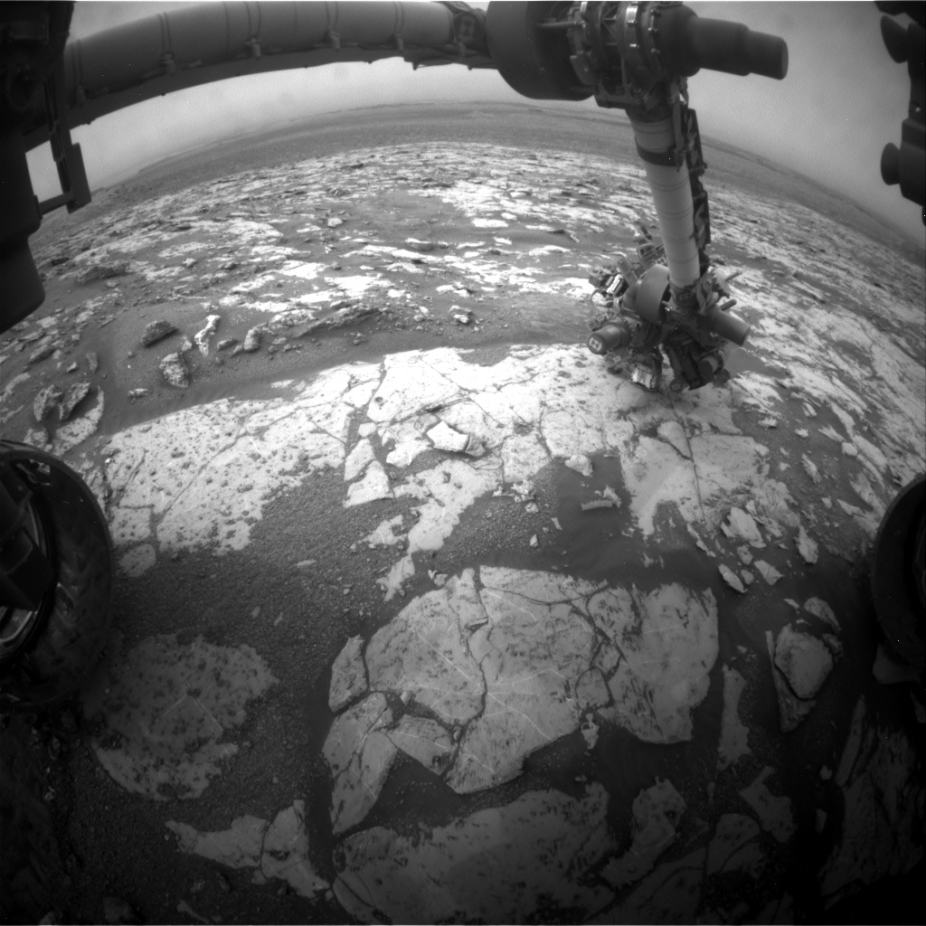 Nasa's Mars rover Curiosity acquired this image using its Front Hazard Avoidance Camera (Front Hazcam) on Sol 2134, at drive 1316, site number 72