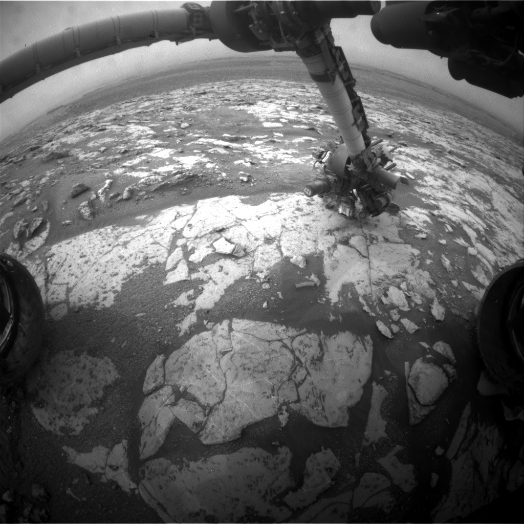 NASA's Mars rover Curiosity acquired this image using its Front Hazard Avoidance Cameras (Front Hazcams) on Sol 2134