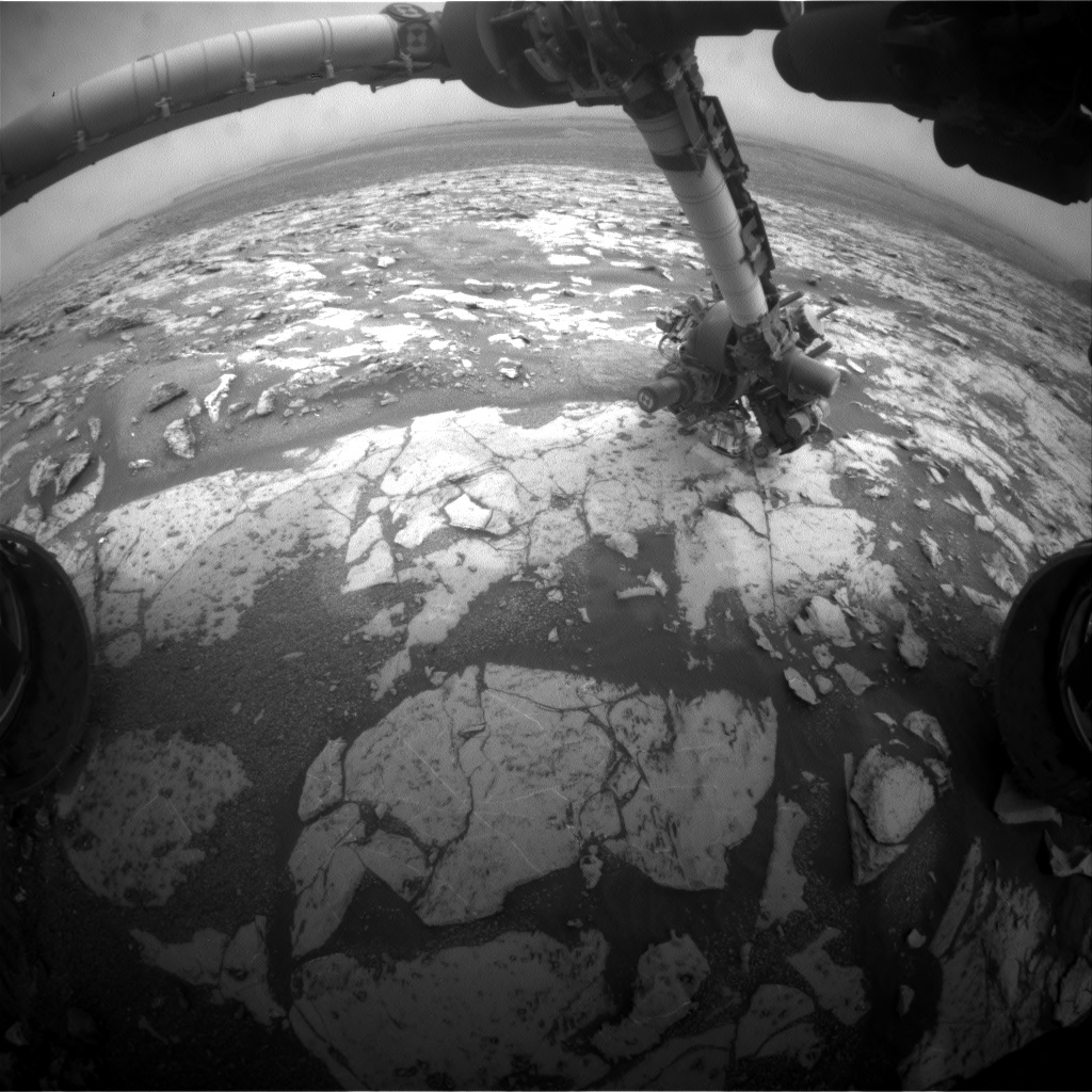 Nasa's Mars rover Curiosity acquired this image using its Front Hazard Avoidance Camera (Front Hazcam) on Sol 2135, at drive 1316, site number 72