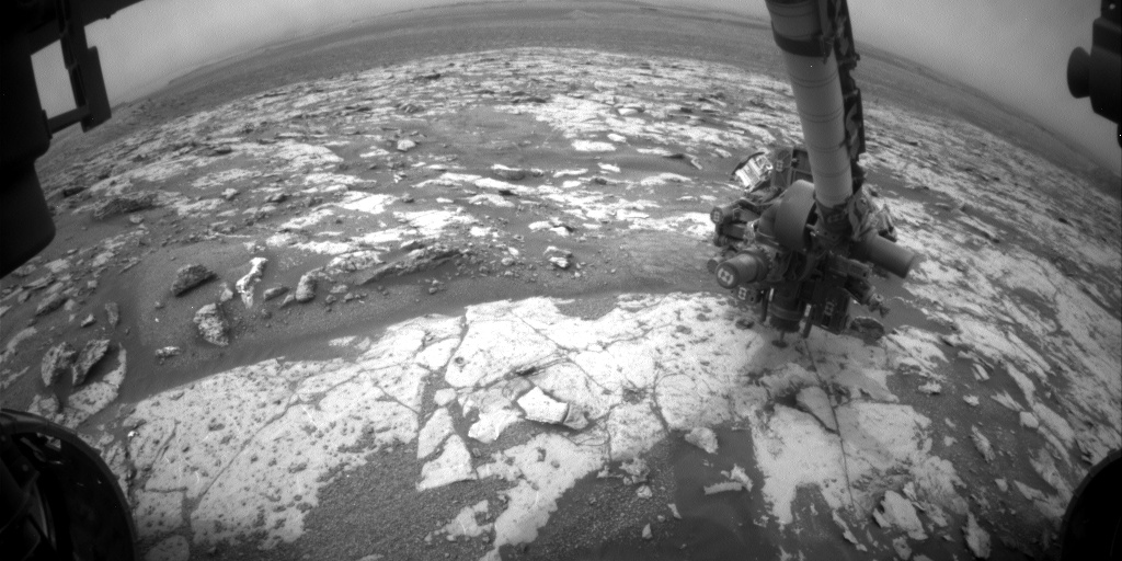 Nasa's Mars rover Curiosity acquired this image using its Front Hazard Avoidance Camera (Front Hazcam) on Sol 2136, at drive 1316, site number 72
