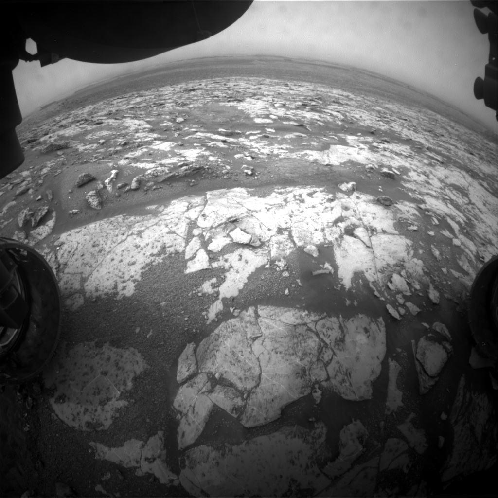 Nasa's Mars rover Curiosity acquired this image using its Front Hazard Avoidance Camera (Front Hazcam) on Sol 2137, at drive 1316, site number 72