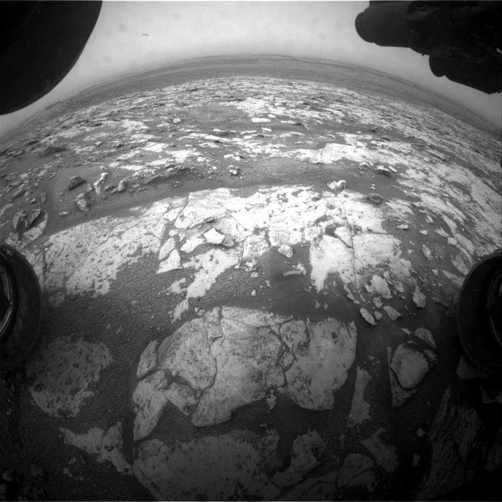 NASA's Mars rover Curiosity acquired this image using its Front Hazard Avoidance Cameras (Front Hazcams) on Sol 2137