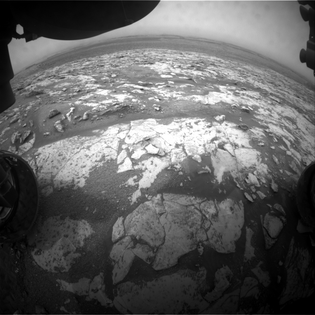 NASA's Mars rover Curiosity acquired this image using its Front Hazard Avoidance Cameras (Front Hazcams) on Sol 2138
