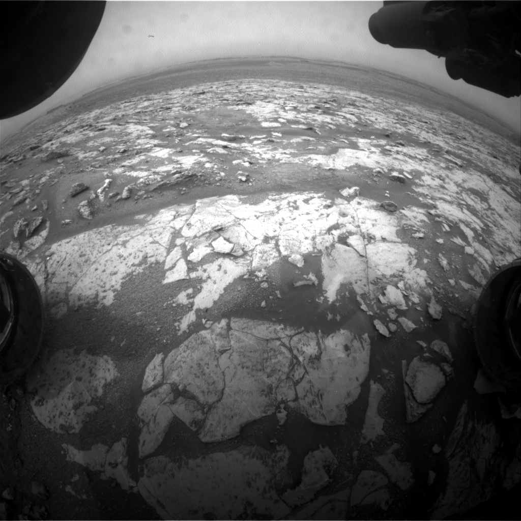 Nasa's Mars rover Curiosity acquired this image using its Front Hazard Avoidance Camera (Front Hazcam) on Sol 2138, at drive 1316, site number 72