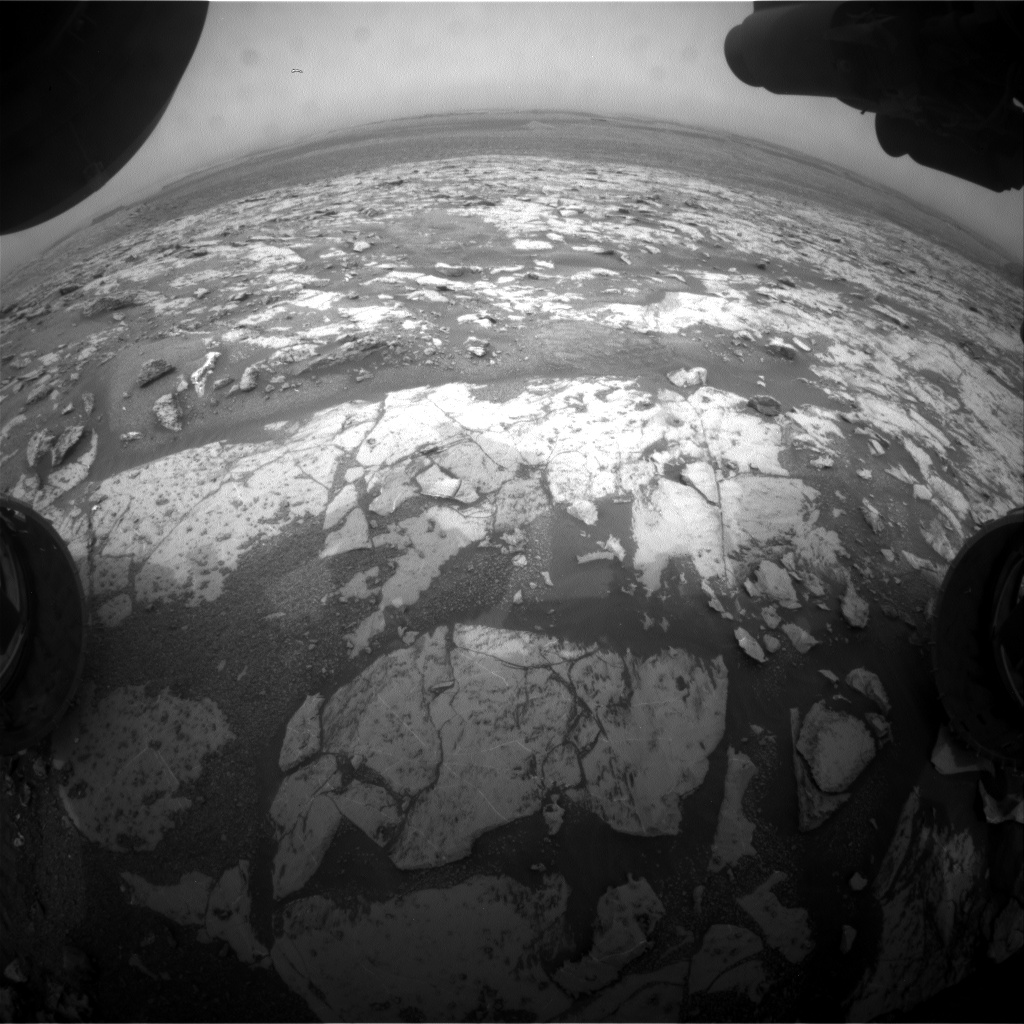 Nasa's Mars rover Curiosity acquired this image using its Front Hazard Avoidance Camera (Front Hazcam) on Sol 2142, at drive 1316, site number 72