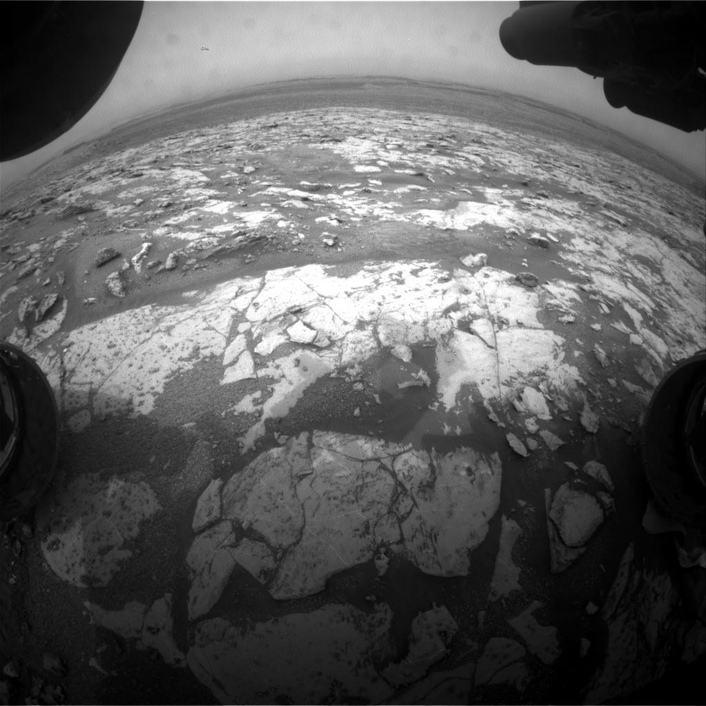 Nasa's Mars rover Curiosity acquired this image using its Front Hazard Avoidance Camera (Front Hazcam) on Sol 2143, at drive 1316, site number 72