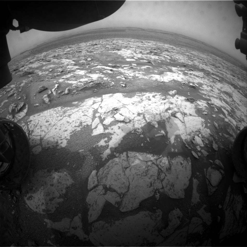 Nasa's Mars rover Curiosity acquired this image using its Front Hazard Avoidance Camera (Front Hazcam) on Sol 2144, at drive 1316, site number 72