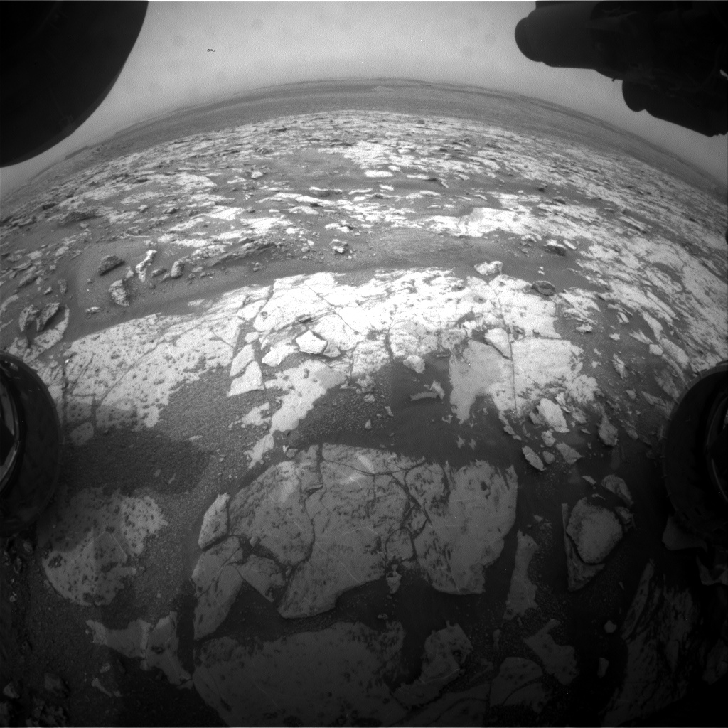 Nasa's Mars rover Curiosity acquired this image using its Front Hazard Avoidance Camera (Front Hazcam) on Sol 2146, at drive 1316, site number 72