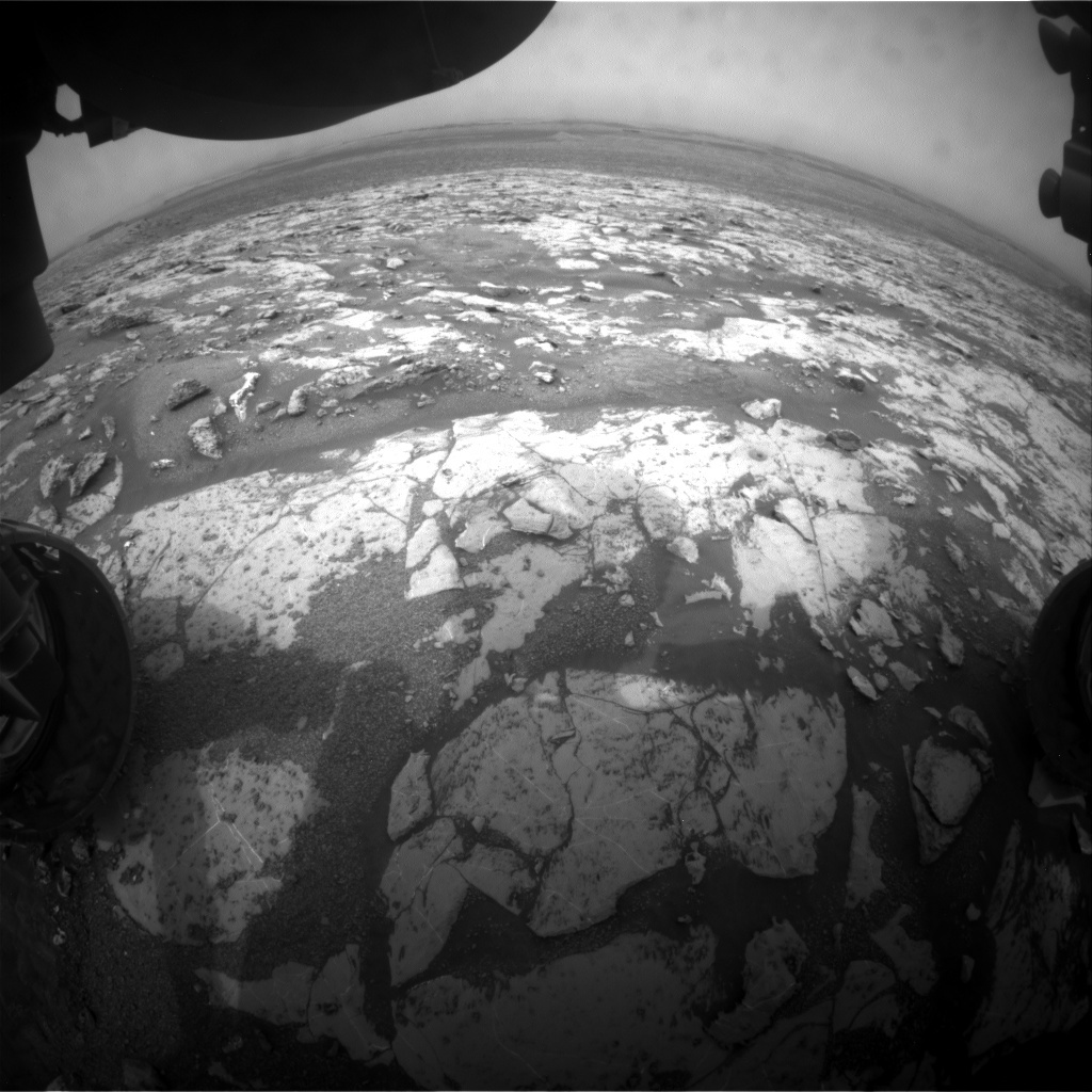 NASA's Mars rover Curiosity acquired this image using its Front Hazard Avoidance Cameras (Front Hazcams) on Sol 2147