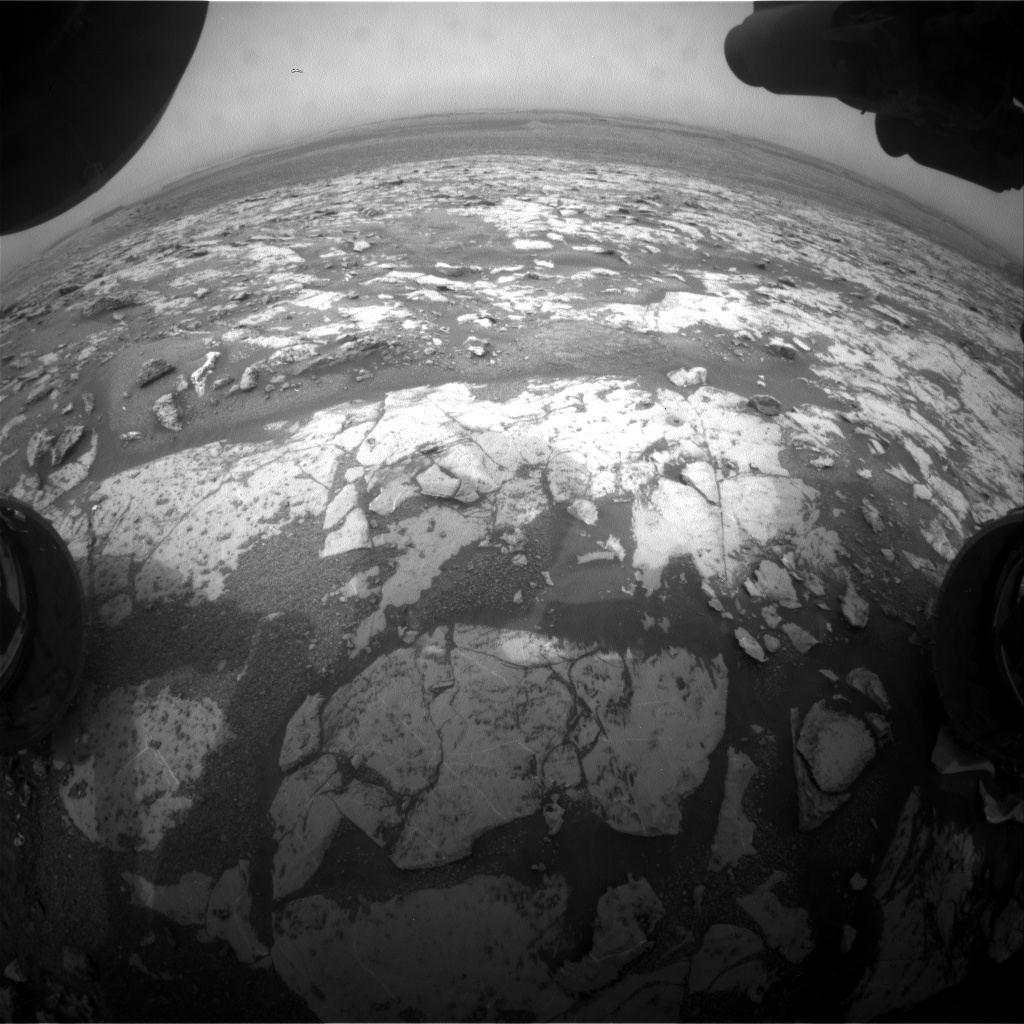 Nasa's Mars rover Curiosity acquired this image using its Front Hazard Avoidance Camera (Front Hazcam) on Sol 2147, at drive 1316, site number 72