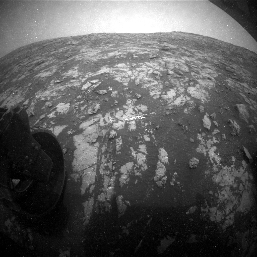 NASA's Mars rover Curiosity acquired this image using its Rear Hazard Avoidance Cameras (Rear Hazcams) on Sol 2147