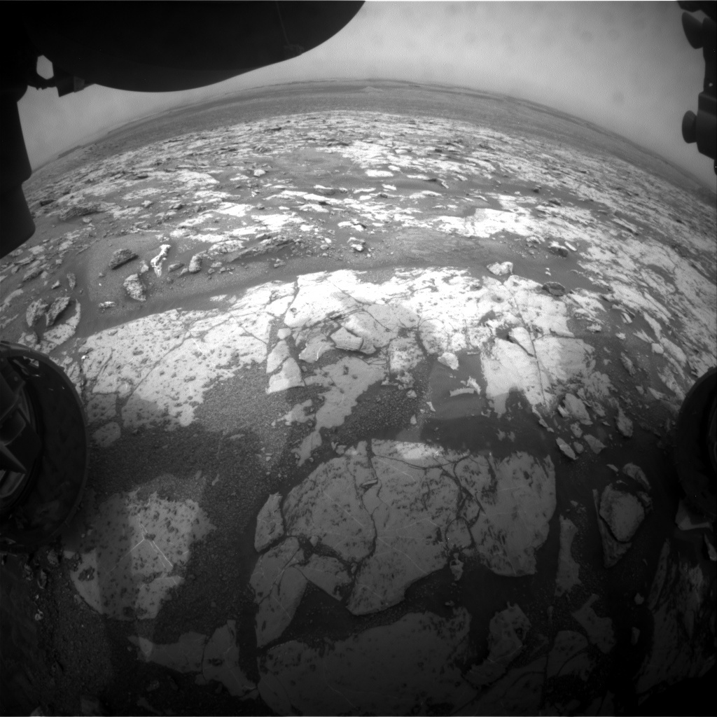 NASA's Mars rover Curiosity acquired this image using its Front Hazard Avoidance Cameras (Front Hazcams) on Sol 2148