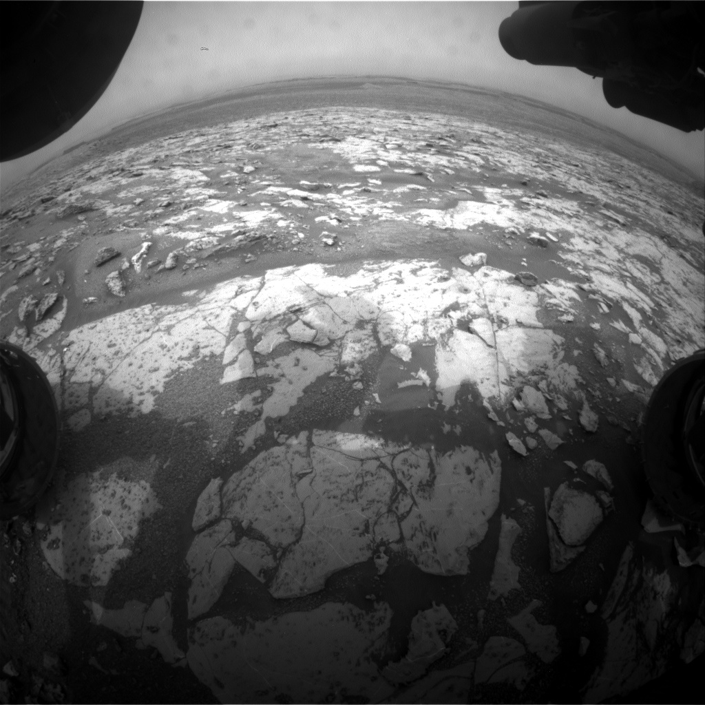 Nasa's Mars rover Curiosity acquired this image using its Front Hazard Avoidance Camera (Front Hazcam) on Sol 2148, at drive 1316, site number 72