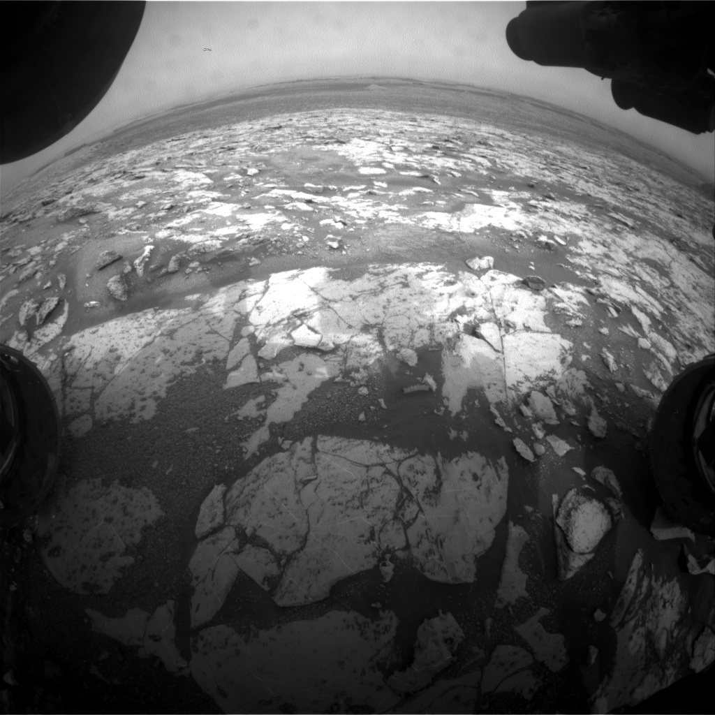 Nasa's Mars rover Curiosity acquired this image using its Front Hazard Avoidance Camera (Front Hazcam) on Sol 2149, at drive 1316, site number 72